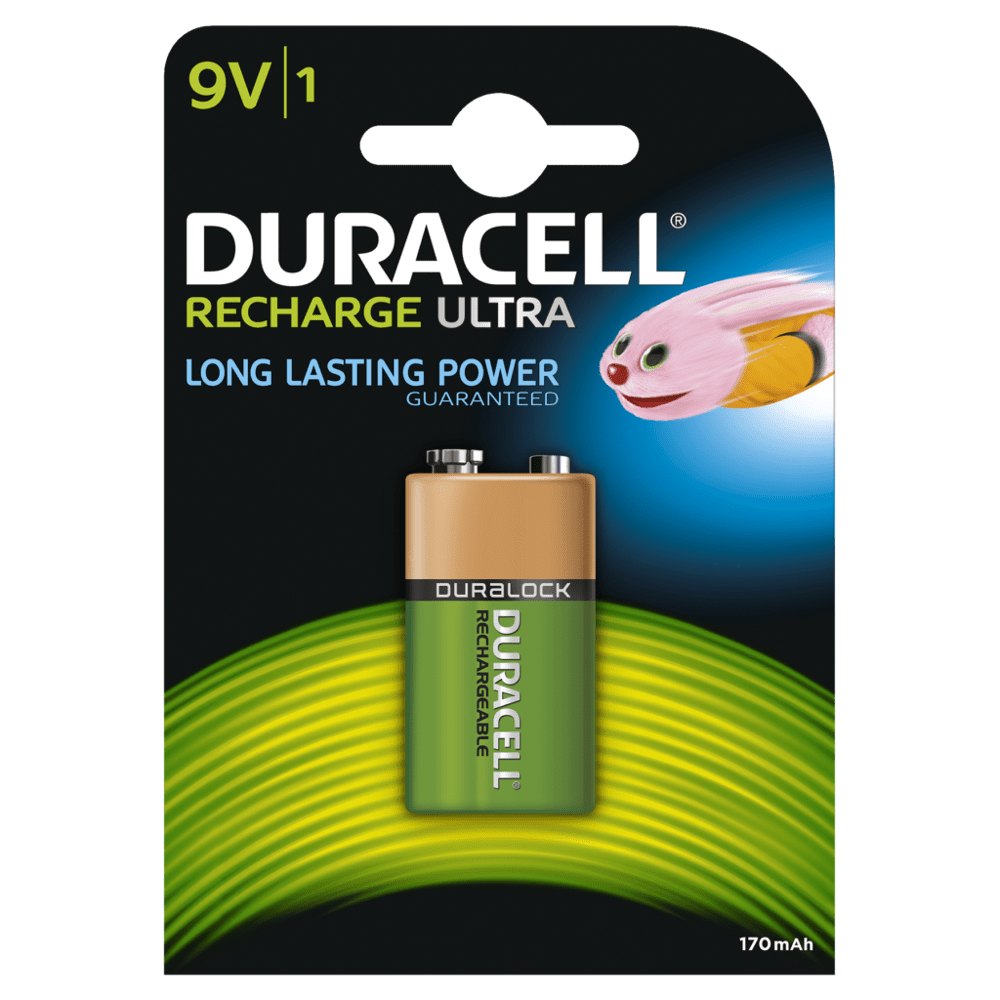 piles duracell recharge ultra 9v