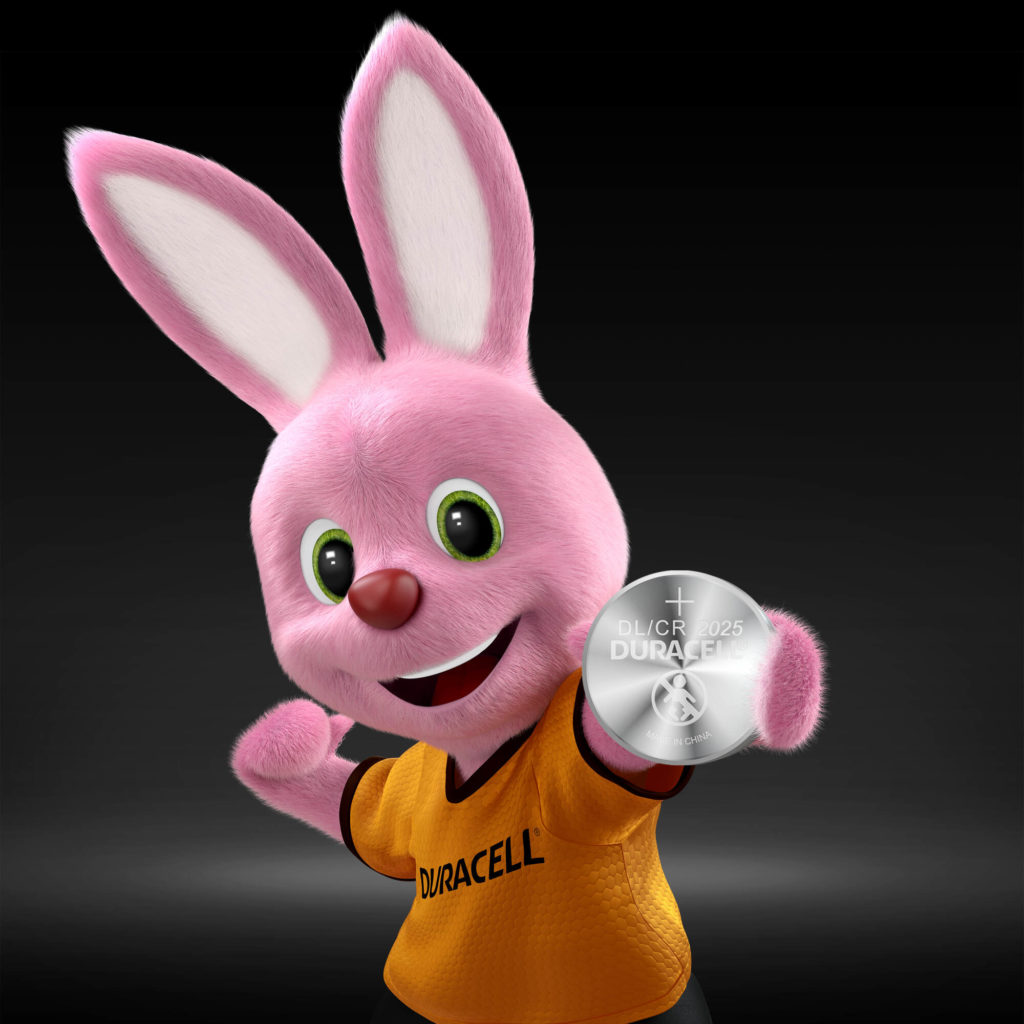 Duracell Bunny introduceert Specialty Lithium Coin 2025-batterij